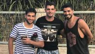 Lodeiro, Silva y Suárez. Foto: @LuisSuarez9