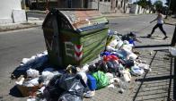 Suciedad: muchos contenedores estuvieron desbordados. Foto: F. Ponzetto