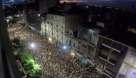 marcha por el 8 de marzo. Foto: Gabriel Rodríguez