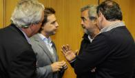 Otra vez: Lacalle Pou y Heber discrepan con Larrañaga. Foto: M. Bonjour
