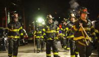 Incendio en Nueva York. Foto: AFP