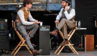 Eddie Redmayne y Jude Law en una pausa de la grabación. Foto Difusión