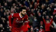 Mohamed Salah es el goleador de Liverpool y uno de los máximos de la Premier. Foto: Reuters