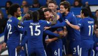 El festejo de los jugadores de Chelsea. Foto: Reuters
