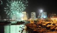 En la zona del puerto hay expectativa y cautela por lo que pueda ocurrir en la noche del 31. Foto: R. Figueredo