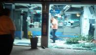 Intentaron robar un Abitab en Malvín. Foto: Twitter  @alvezpat