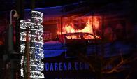 Incendio en Liverpool. Foto: AFP