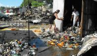 El día después del incendio en el Bagashopping. Foto: Luis Pérez.