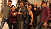 La foto de fin de año de la familia Zidane. Foto: @luca