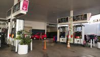 La estación de Ancap de la Parada 2 ya no tiene combustible. Foto: Ricardo Figueredo