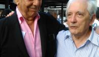 Mario Vargas Llosa y Ruben Loza Aguerrebere en Punta del Este. Foto: El País