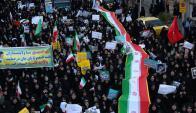 Marcha en apoyo al gobierno. Foto: AFP