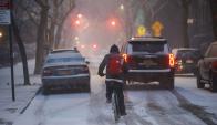 Ola de frío en el Este de EEUU. Foto: AFP