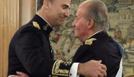El rey abdicó a favor de su hijo Felipe en junio de 2014, tras 40 años de reinado. Foto: AFP