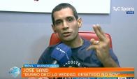 José Sand en la entrevista con TyC Sports. Foto: Captura