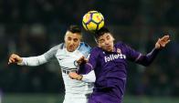 Matías Vecino en Fiorentina Inter. Foto: Reuters
