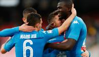 El festejo de los jugadores de Napoli. Foto: Reuters
