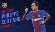 Barcelona anunció la llegada de Coutinho. Foto: FCBarcelona.com
