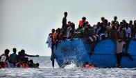 La ruta de la costa de LIbia con destino a Italia es la más usada por inmigrantes africanos. Foto: AFP