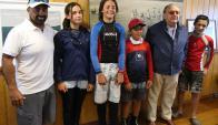 El equipo de optimist del Yacht Club Punta del Este. Foto: Ricardo Figueredo.