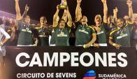 Sudáfrica se quedó con el Seven de Punta del Este. Foto: @RugbyUruguay.