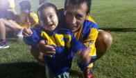 Con la amarilla. Aldo Díaz, gran atracción del torneo 2018. Foto: Liga Isabelina