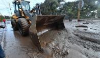 Deslizamientos de tierra en California. Foto: AFP