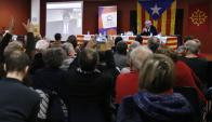 Carles Puigdemont en conferencia desde Bruselas. Foto: EFE