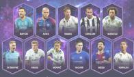El once ideal de la UEFA del año 2017