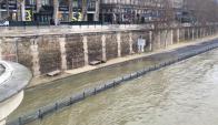 Se desbordó el río Sena en París por lluvias intensas. Foto: AFP