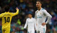 Cristiano Ronaldo y la preocupación por la derrota. Foto: AFP.
