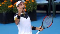 Roberto Bautista ganó el ATP 250 de Auckland, en Nueva Zelanda. Foto: AFP.