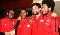 Jugadores del  Spartak de Moscú. Foto: @fcsm_official