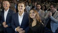 Apoyo: Albert Rivera e Inés Arrimadas, figuras de Ciudadanos. Foto: EFE