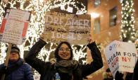 """Sueño: """"No se puede deportar los ideales"""", proclama la chica. Foto: Reuters"""