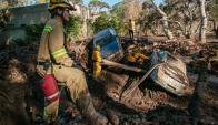 En Montecito, se produjo un deslave con toneladas de barro que arrasaron viviendas y provocaron la muerte de 18 personas. Foto: AFP