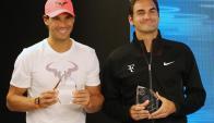 Rafael Nadal y Roger Federer. Foto: EFE