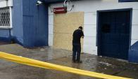 Cajero explotado en Buceo. Foto: Marcelo Bonjour
