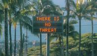 Los carteles luminosos anunciaron la falsa alarma. Foto: Reuters