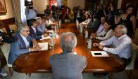 Reunión de ruralistas con el presidente Tabaré Vázquez. Foto: Fernando Ponzetto