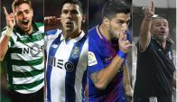 Los cuatro uruguayos invictos en Europa.
