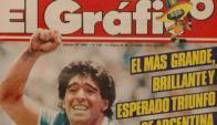 Una tapa histórica: cuando la selección argentina le ganó a Inglaterra en México 1986. Foto: Archivo
