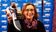 Las zapatillas de BVG. Foto: Reuters