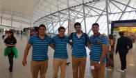 Los Teros viajaron rumbo a Houston. Foto: @RugbyUruguay.
