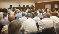 Audiencia de acción de amparo de los taxis contra la Intendencia. Foto: El País