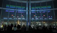 El festejo por los 40 años de 'Space invaders' en Tokio. Foto: AFP