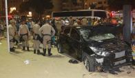 El auto que atropelló al menos a 15 personas en Copacabana. Foto: O Globo | GDA