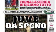 La portada de Corriere dello Sport anunciando el sueño de Juventus