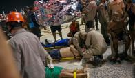 Auto embistió a personas en la rambla de Copacabana. Foto: Reuters