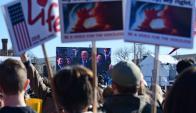 Hoy será una jornada movida en la capital de EE.UU., pero de grupos de feministas. Foto: AFP